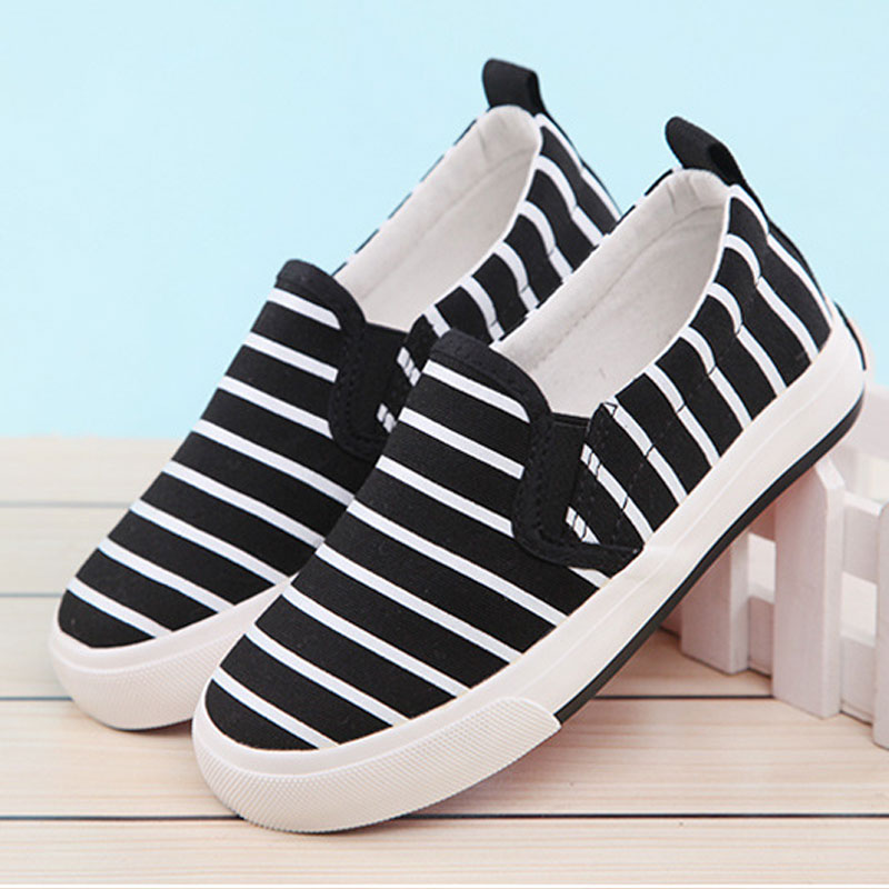 HOT selling 2016 new fashion Spring Baby boys and girls stripe canvas Sneaker soft summer child casual shoes Autumn sneakers(China (Mainland))