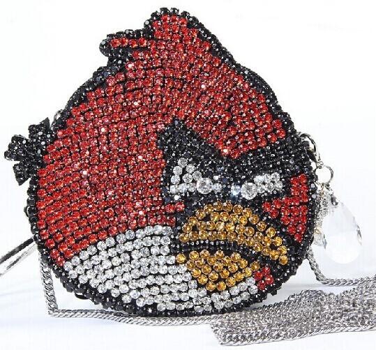 Ручной сумки птица форма, Алмаз мультфильм клатч, Сеть вечерняя, Сверкающей роскоши сумки