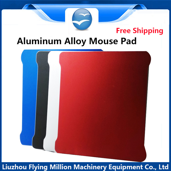 Free Shipping Original Metal Mouse Pad Surface Aluminium Alloy Mouse Mat Silicone Back Simplicity Cool Slimer(China (Mainland))