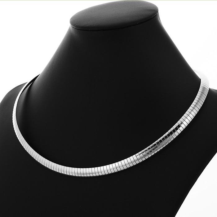 New 316L Stainless Steel Chains Snake Choker Necklace For Women \ Men High Quality Jewelry NEVER FADE 8MM 48CM 19inches N212(China (Mainland))