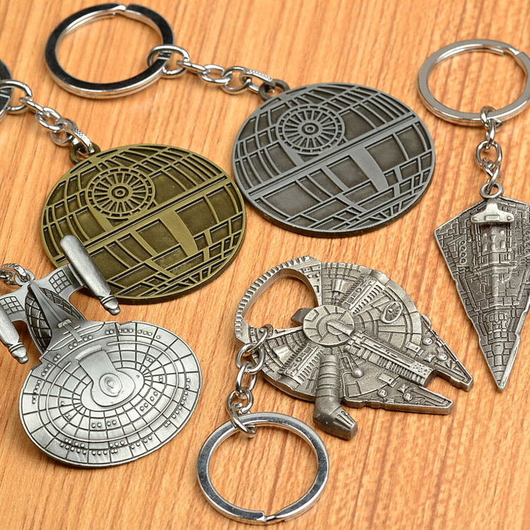 Star Wars The Force Awakens Spacecraft Key Chain Enterprise Millennium Falcon Serenity Firefly Warships Movie Keychain(China (Mainland))