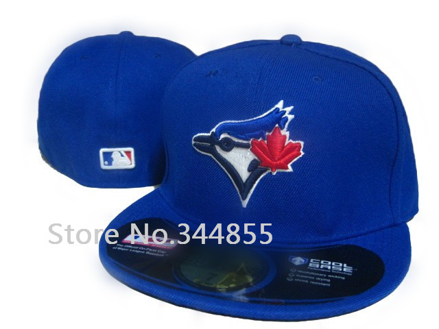 Classic Toronto Blue Jays Fitted Hats Blue Color Sports Baseball Closed Caps Team Logo Embroidery Bones(China (Mainland))
