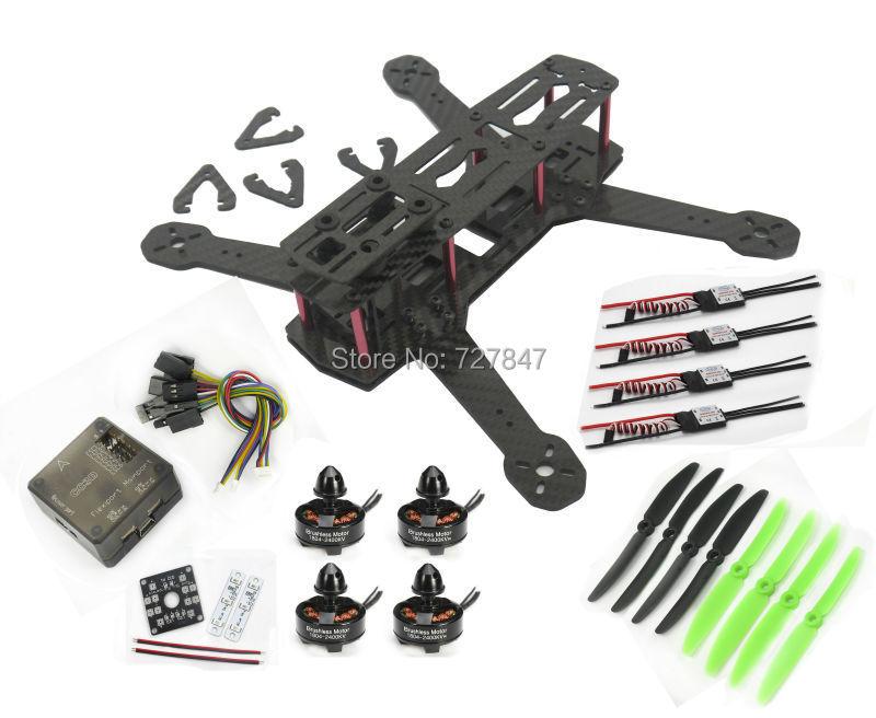 Pure Carbon Fiber ZMR250 Quadcopter frame CC3D 1804 Motor CC3D Distribution Board LED 20A Simonk ESC(China (Mainland))