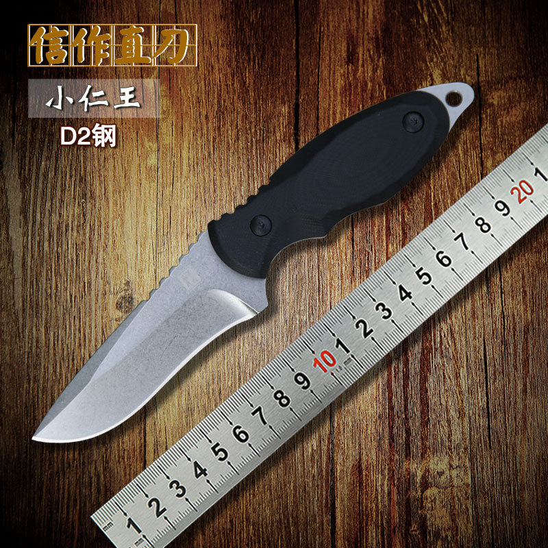 XINZUO newest wild mountain high hardness D2 steel HUNTING fixed blade knife straight knife Outdoor survival