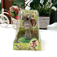 Free Shipping  Swing No Battery Shrek Cartoon Toys  Solar Powered Dancing Donkey Novelty The Children's Day Gifts(China (Mainland))