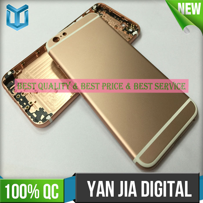 China supplier mobile phone colorful back housing accessories for iphone 6s back housing with free shiping(China (Mainland))