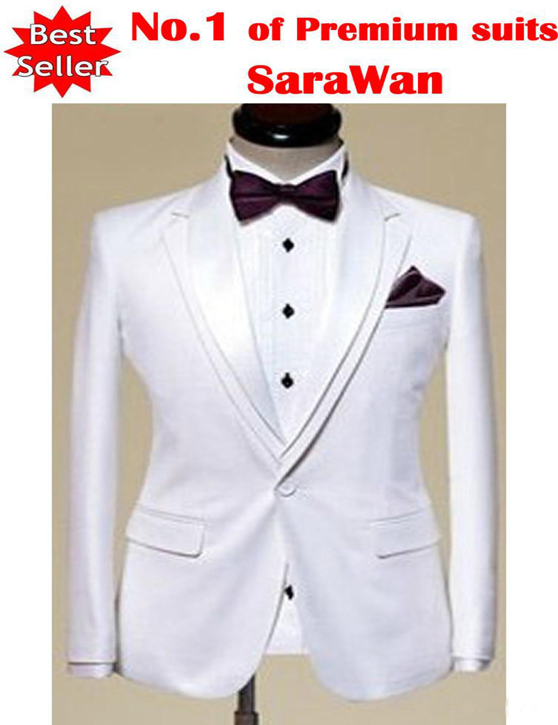 Custom Made to Measure Tailored mens BESPOKE Suit White Men Tuxedo With Double Collar Men Wedding Suit (Jacket+Pants+Tie )Одежда и ак�е��уары<br><br><br>Aliexpress