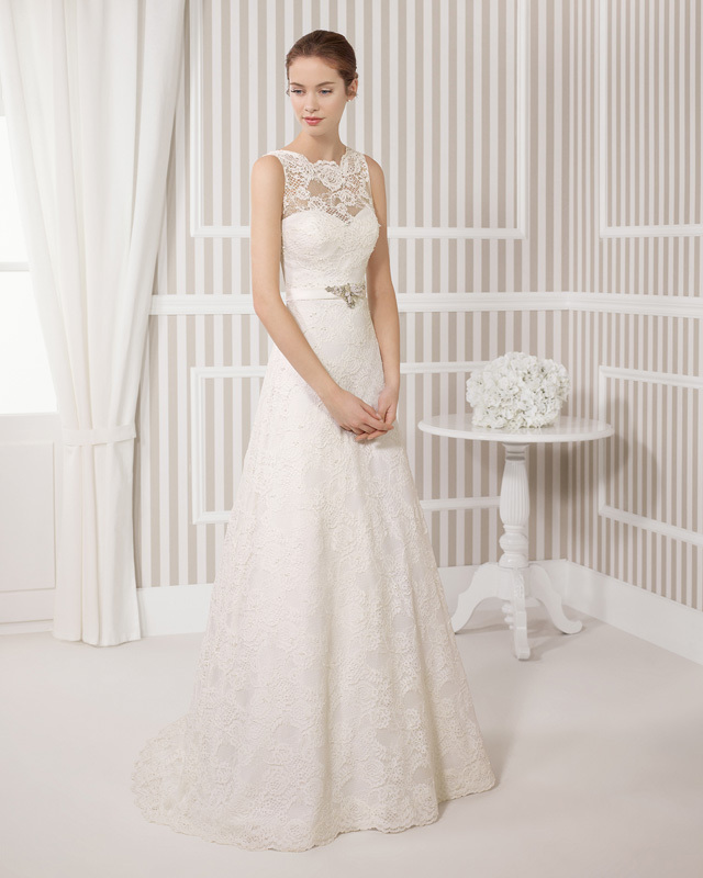 Pure and Fresh A Line Court Train O Neck Beading Bow and Applique Lace ...