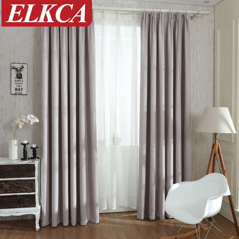 Solid Colors Blackout Curtains for the Bedroom Faux Linen Modern Curtains for Living Room Window Curtains Blinds Custom Made(China (Mainland))