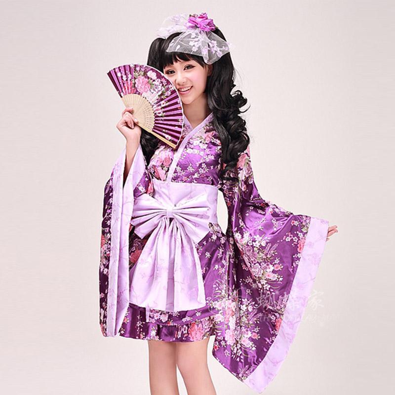Home Cos Womenu0026#39;s Anime Clothes Short Kimono Maid Equipment Lolita Purple Cosplay Costumes Cos ...