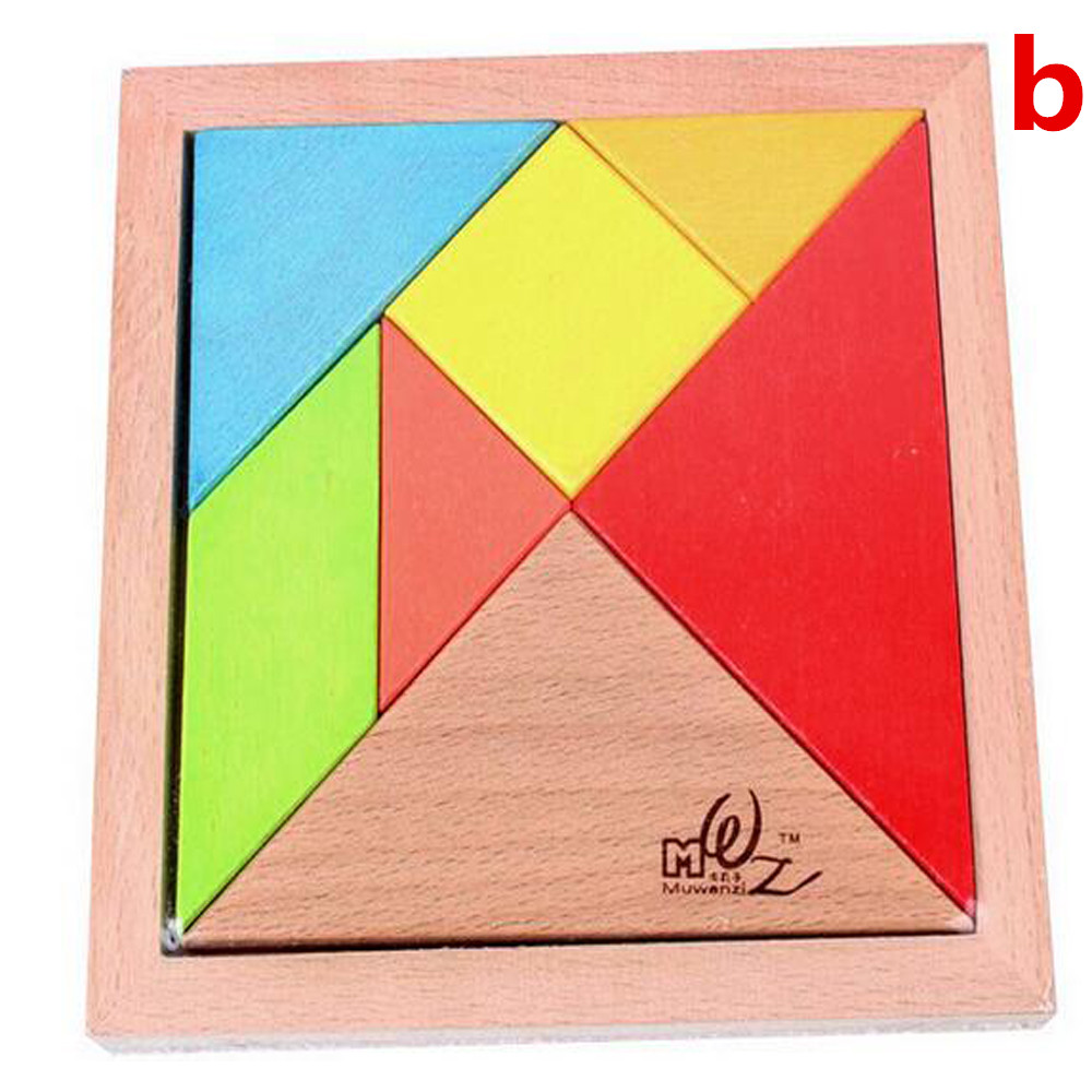 Gifts large wooden balls beech wooden jigsaw puzzle shape cognitive building of children's educational toys tangram(China (Mainland))