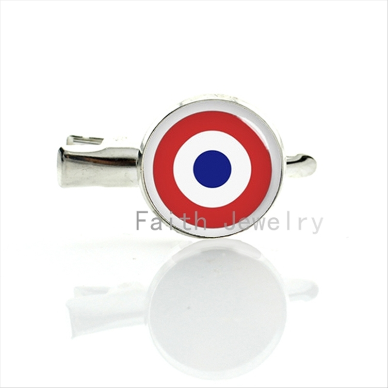 France Air Force Roundel hairgrips trendy army logo hairpin 2016 new fashion silver plated army fans hair clip pins jewelry T674(China (Mainland))