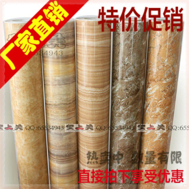 Thickening of marble kitchen cabinet countertop pvc self adhesive paper wallpaper boeing film furniture stickers 1.22MX4.92M pap(China (Mainland))