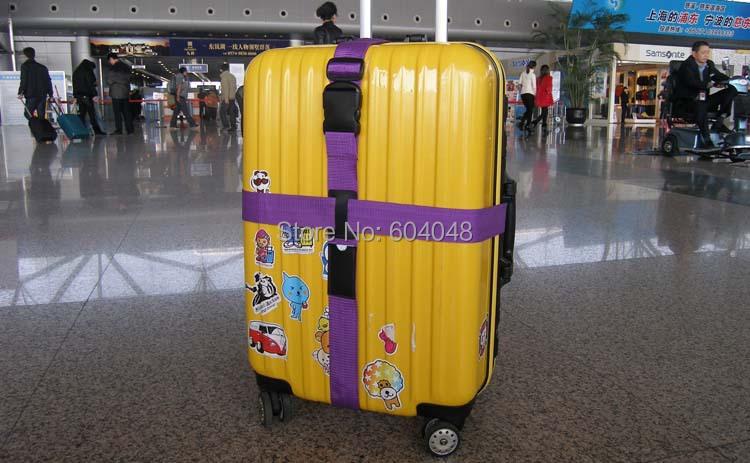 Nylon Travel Suitcase Straps Luggage strapping belt,POM buckle,Baggage Backpack Bag suitcase packing Belt 2-2.3m free shipping(China (Mainland))