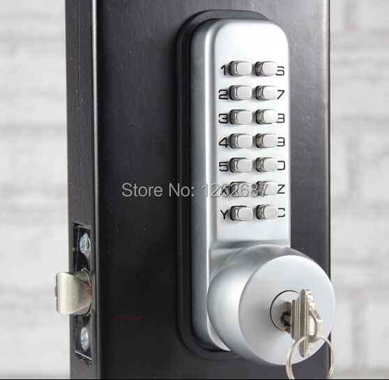 NEW 2015 MECHANICAL Keyless DOOR LOCK Left/Right KNOB WITH BACKUP KEYS(China (Mainland))