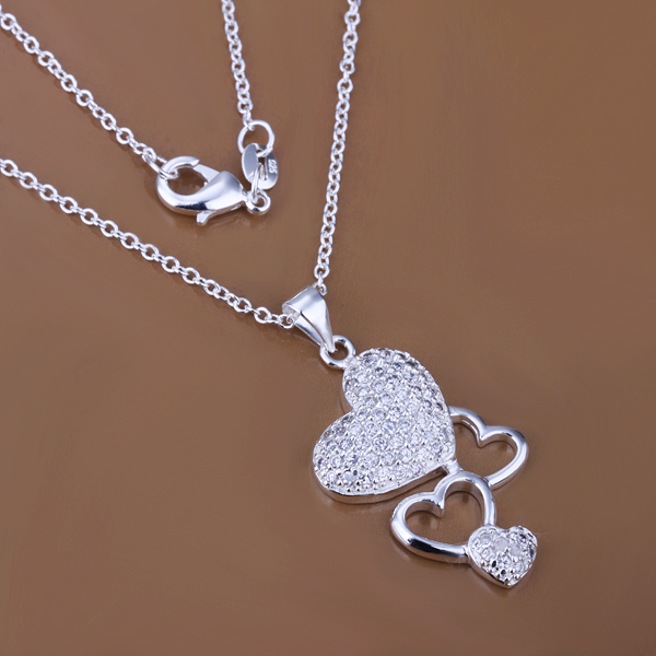 Wholesale 925 silver pendant necklace silver jewelry Necklace 925 necklace 925 sterling silver charm necklace P287(China (Mainland))