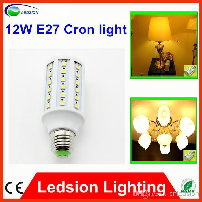 12W 5050 SMD 60 LED Corn Bulb Light E27 LED Lamp 85-265V Cool white Warm White Led Bulbs , standard E27 fittings hot sell in Can(China (Mainland))