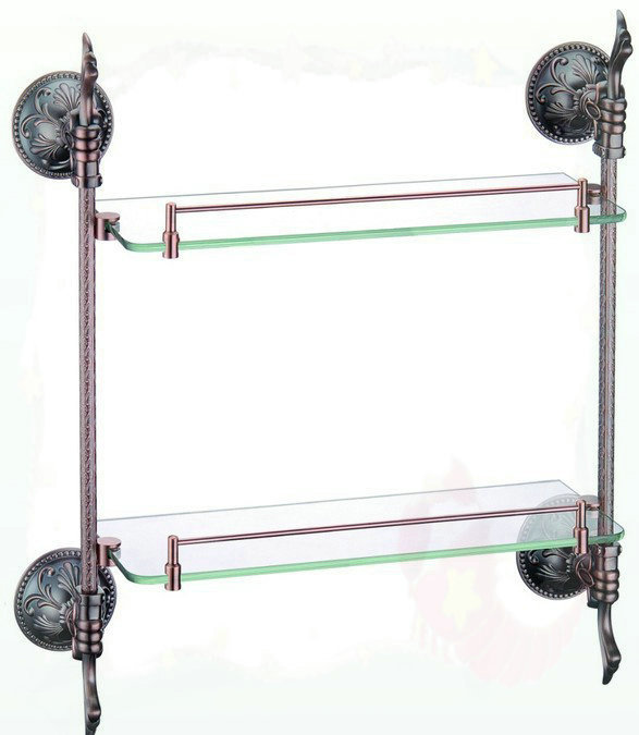 brass glass shelf, bathroom shelf,shelves, Oil Rubbed Bronze bathroom fittings,bathroom accessories AB012R-1 tap bathroom(China (Mainland))
