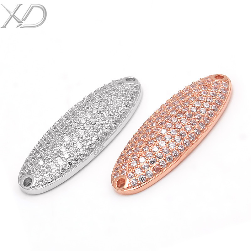 XD 100 % 925 sterling silver jewelry fashion jewelry findings micro pave connector in jewelry connectors P745(China (Mainland))