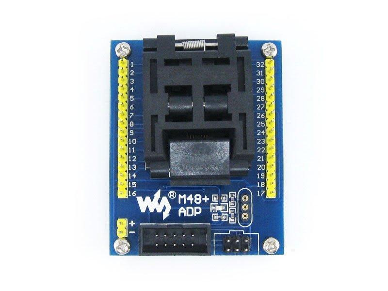 M48+ ADP ATmega48 ATmega88 ATmega168 TQFP32 AVR Programming Adapter Test Socket Freeshipping(China (Mainland))