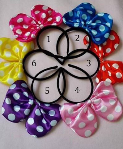 Mickey& Minnie Dot Mouse Ears Headband Children Hair Accessories Cartoon Hairband 12cm 4.72inch10pcs/lot(China (Mainland))