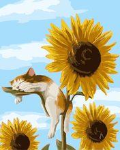 AZQSD Современная DIY картина маслом по номерам цветочная картина цветочный холст настенная ручная роспись украшение дома YHGC040(Китай)