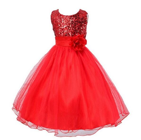 High quality Sleeveless Girl Dress Children's Dresses Party Summer Ball Gown Princess Baby Girl Wedding Dress Birthday clothes(China (Mainland))