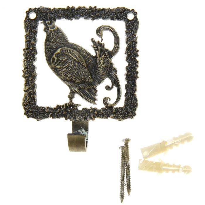"small ""Capercaillie"" bag hook metal hook arts and crafts russian style gift bag box gift girl women gift handbag hook(China (Mainland))"