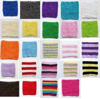 "6""x6"" inch Crochet tube top tutu top for baby infant toddler girls tutu dress supplies 20pcs per lot"