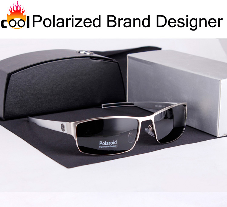Impact resistant safety High-definition Anti Fatigue Glasses,Stainless Steel Brand Designer Sunglasses Men Polarized Rectangle(China (Mainland))