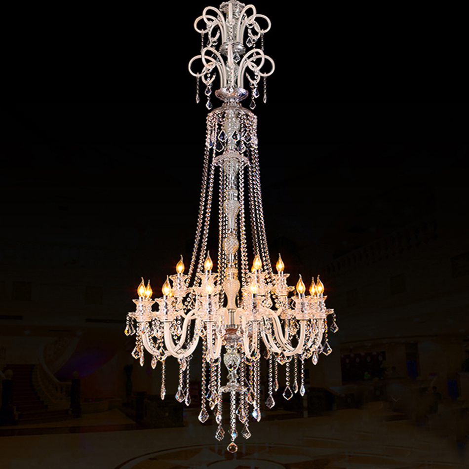 large modern crystal chandelier for high ceiling extra large chandelier living room led luxury chandeliers industrial villa<br><br>Aliexpress