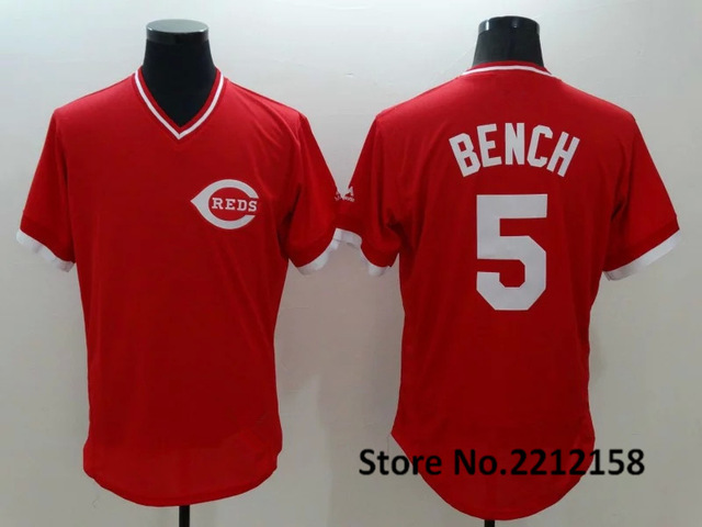 2016 Mens #19 Joey votto #5 Johnny bench #14 Pete rose Embroidery Cincinnatis #30 #11 Baseball Jersey 100% stitched red(China (Mainland))