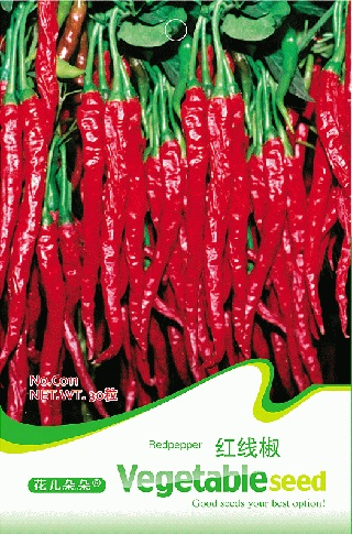 1 Original Packing 30 pcs Long line red chilli seeds, very hot pepper vegetable seeds Free Shipping(China (Mainland))