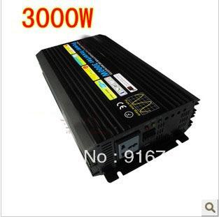 3000W/6000W Off Grid Inverter for solar panel, dc to ac Pure sine wave Power Inverter 12V 220V(China (Mainland))