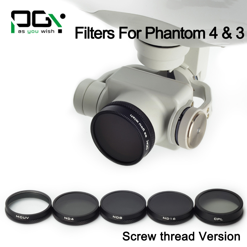 1 Set of ND4+ND8+ND16+MCUV+CPL Camera Lens Filter Accessory Mirror Polarize For DJI Phantom 4 Drone(China (Mainland))