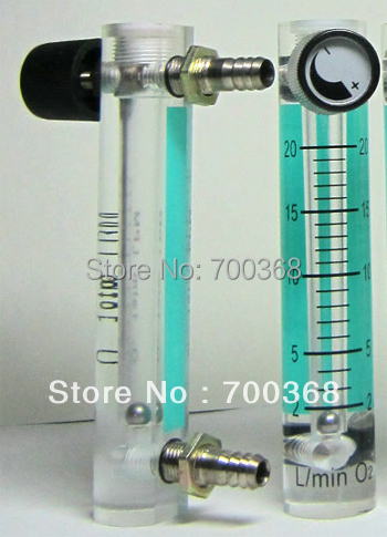 high quality 2-20L air flow meter  oxygen gas flow meter with copper connector 1pcs/lot