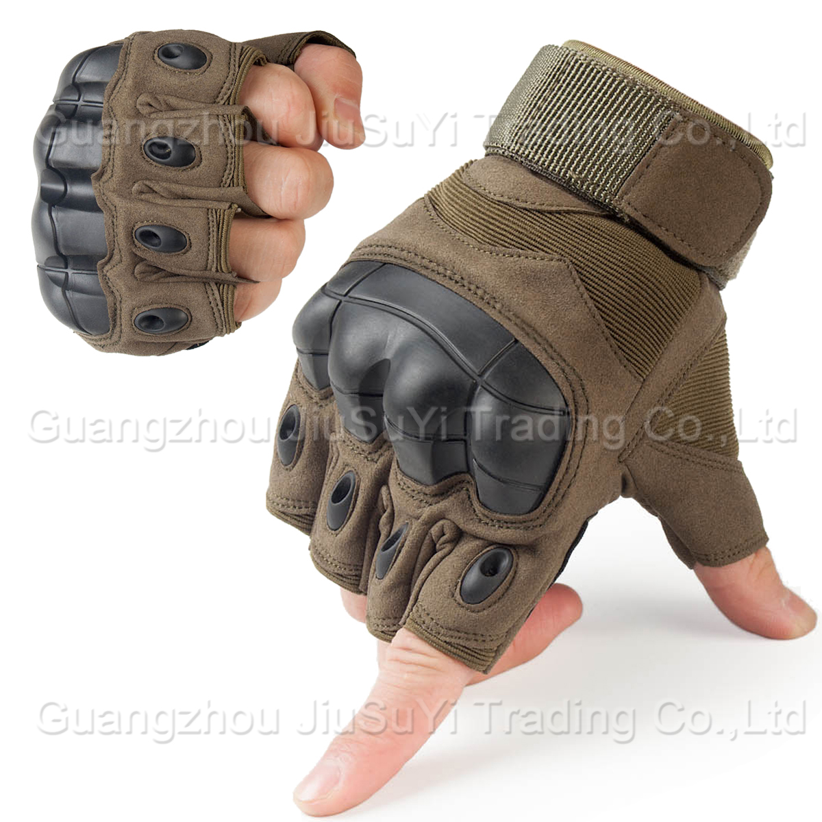 Tactical Fingerless Gloves Military Airsoft Outdoor Shooting Armed Combat Paintball Workout Carbon Knuckle Half Finger Gloves