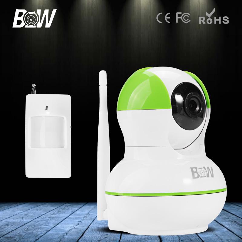 BW 3.6mm Onvif WiFi Camera Wireless IP Video Surveillance System CCTV HD Security Camera 720P with Infrared Motion Sensor Alarm(China (Mainland))