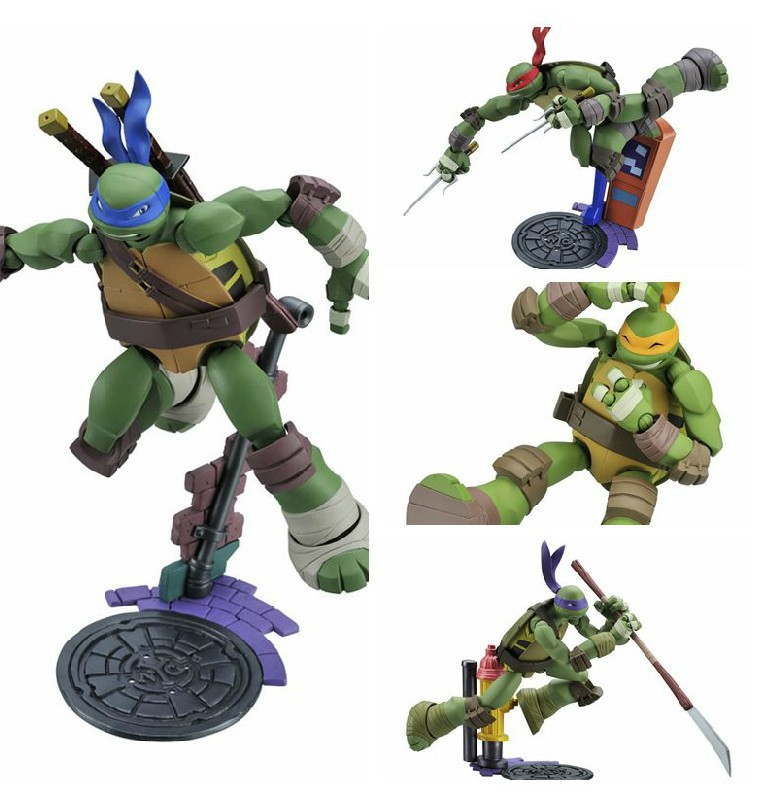 Classic Movable Playmates Teenage Mutant Ninja Turtles PVC Action Figures Toy with Original Box for Collection Gift<br><br>Aliexpress