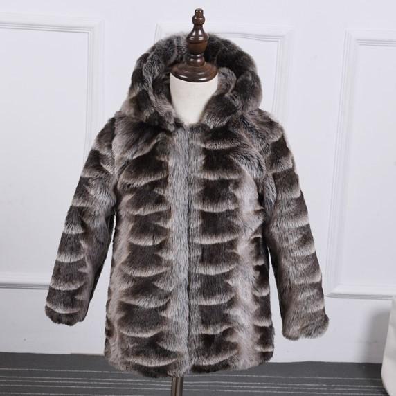 Скидки на 2016 новый зимний девочка и мальчик пушистый куртка пальто толстый теплый с капюшоном шуба Из Искусственного норки пальто 000158