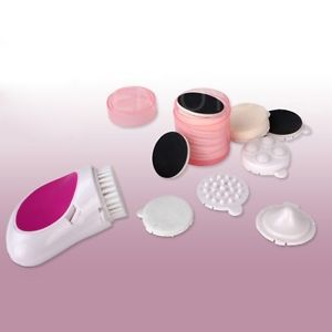 New Arrival 7 in 1 Electric Face Cleaner Beauty Skin Care Cleaning Kit Facial Massager