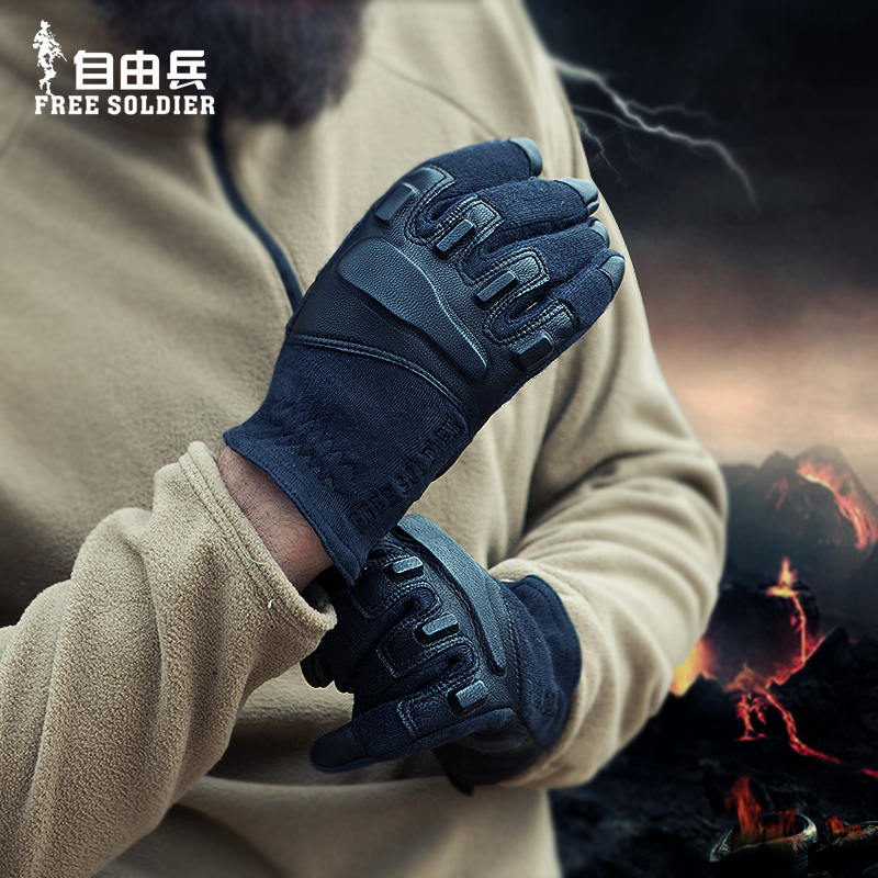 Sports caming hikingTactical gloves kevlar wear-resistant sheepskin gloves protection Free Soldier<br><br>Aliexpress