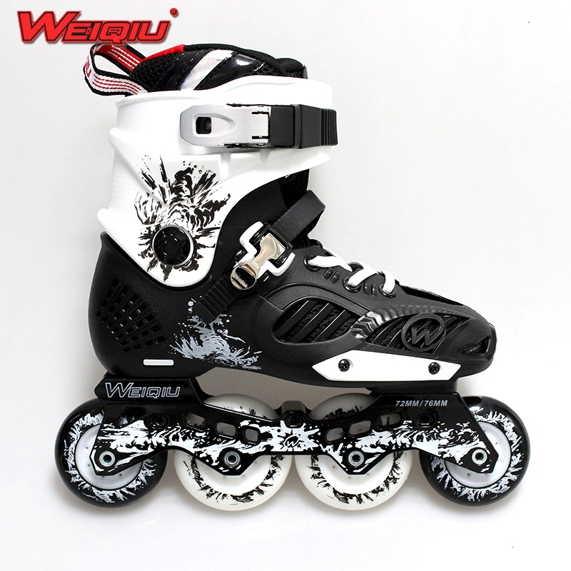 2015 Fashion Adult Four Wheels Roller Skates Sneakers Breathable/Wear Resistant PU Perfusion Round Inline Skating Shoes(China (Mainland))