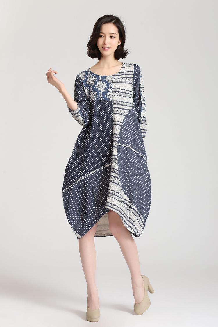 Summer dress 2015 new autumn plus size vestidos printing ...