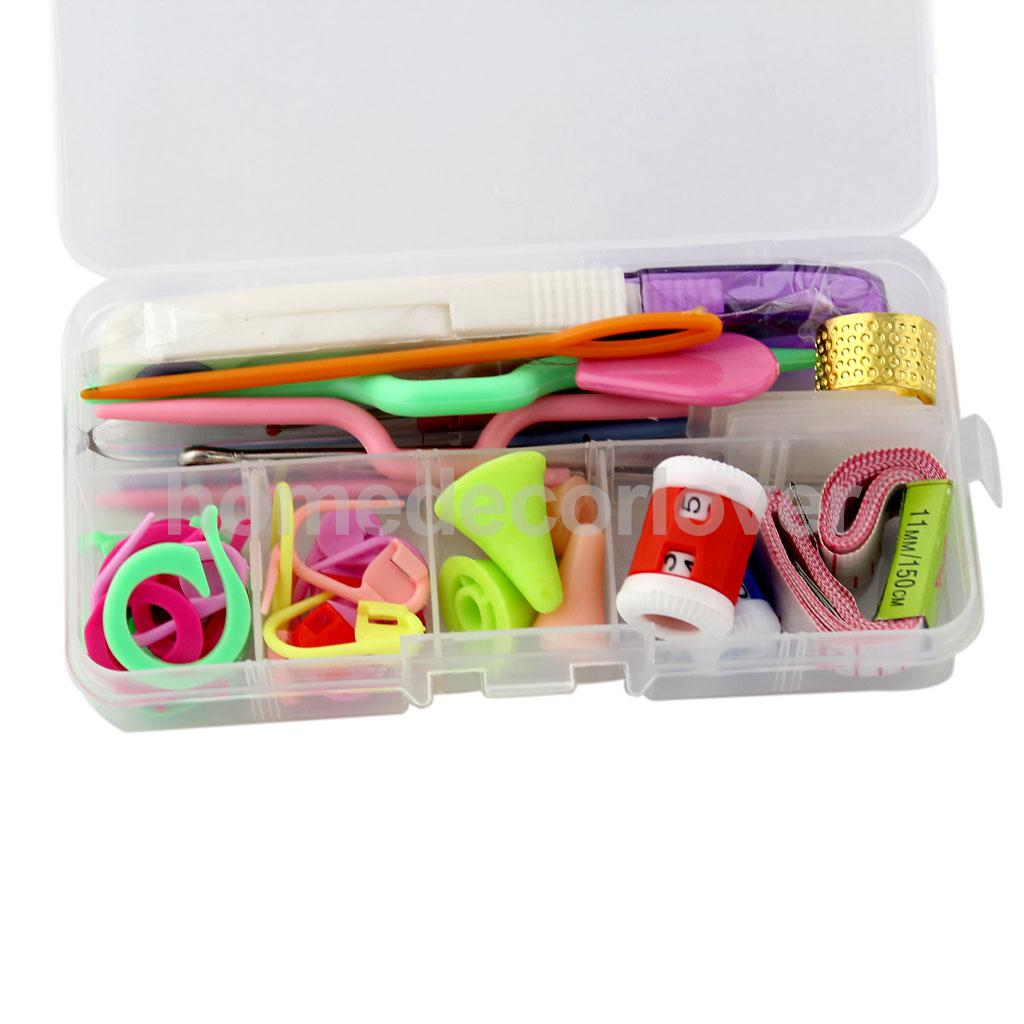Basic Knitting Tools Accessories Supplies With Small Case Knit Kit Lots(China (Mainland))