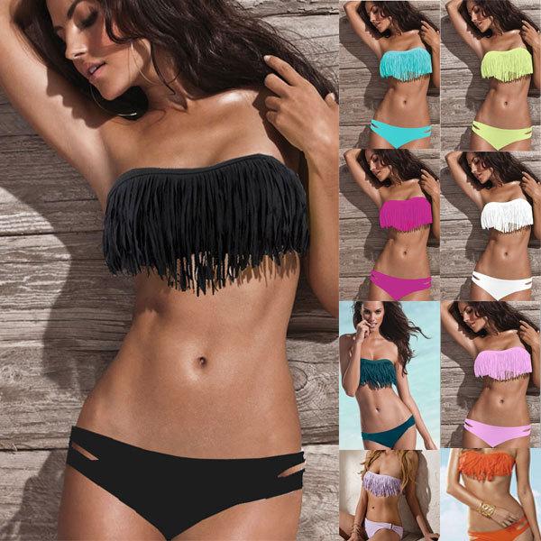 Free Shipping Strapless Bikini Swimwear PP4167 sexy bikini open women photos with many color(China (Mainland))