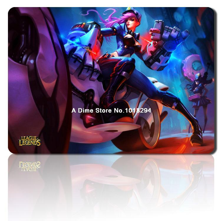 Officer Vi mouse pad lol mousepad laptop Legends mouse pad razer notbook computer gaming mouse pad gamer play mats(China (Mainland))
