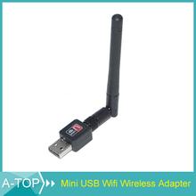 1Pcs USB Wifi Adapter Lan Adapter Mini 150M USB WiFi Wireless Network Card LAN Adapter with Antenna For Laptop Desktop PC + Fast(China (Mainland))