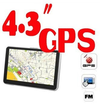 BY DHL OR EMS 50 PC 2013 Newest 4.3inch GPS Navigator built in 4G car navigation Fm transimitter window CE 6.0 128 MB