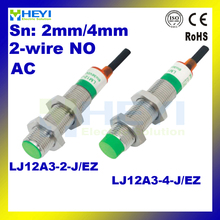 Buy inductive proximity sensor LJ12A3-4-J/EZ M12 2wire NO Proximity switch AC90V-250V for $9.96 in AliExpress store
